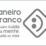 Figura 1: Símbolo e slogan da campanha. Fonte: IConnect. https://iconnectgyn.com/janeiro-branco-quem-cuida-da-mente-cuida-da-vida/ Acesso: 28/12/2019